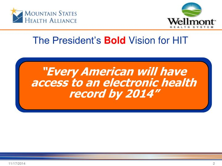 The president s bold vision for hit