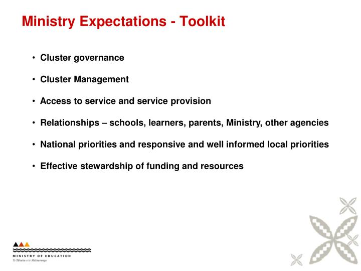 Ministry Expectations - Toolkit
