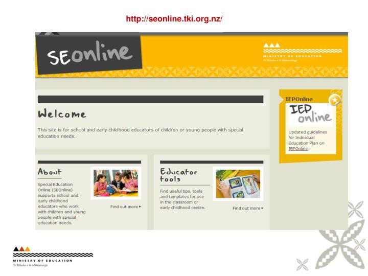 http://seonline.tki.org.nz/