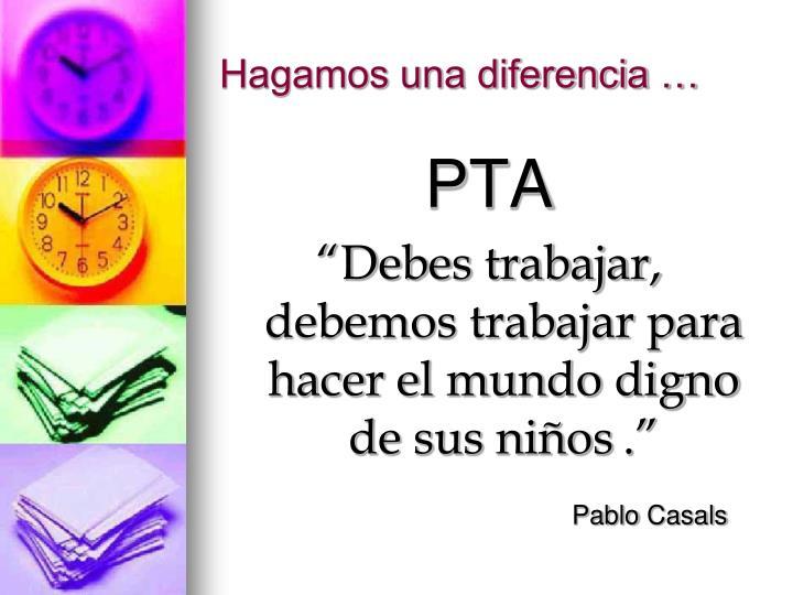 Hagamos una diferencia …