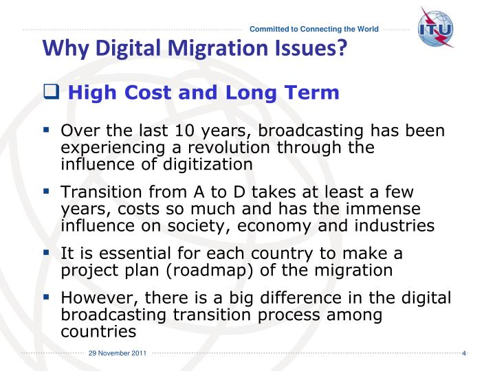 Why Digital Migration Issues?