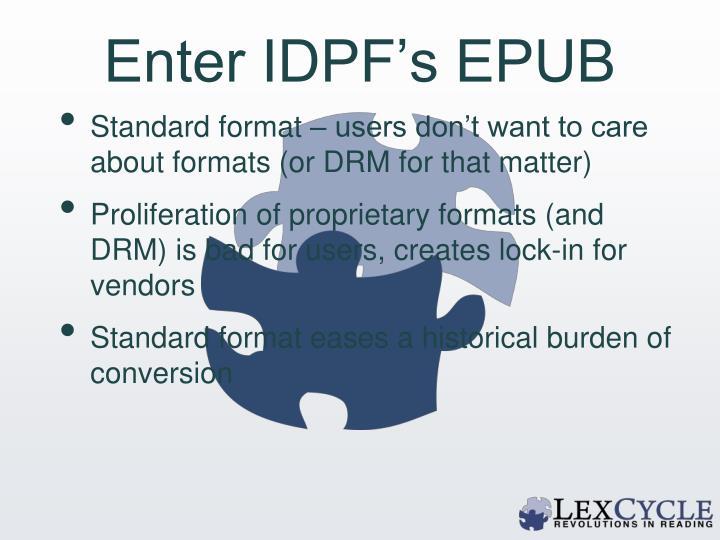 Enter IDPF's EPUB