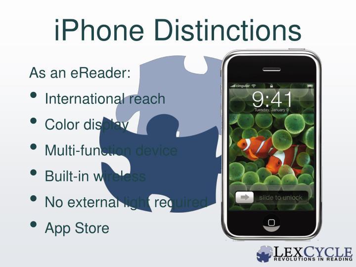 iPhone Distinctions
