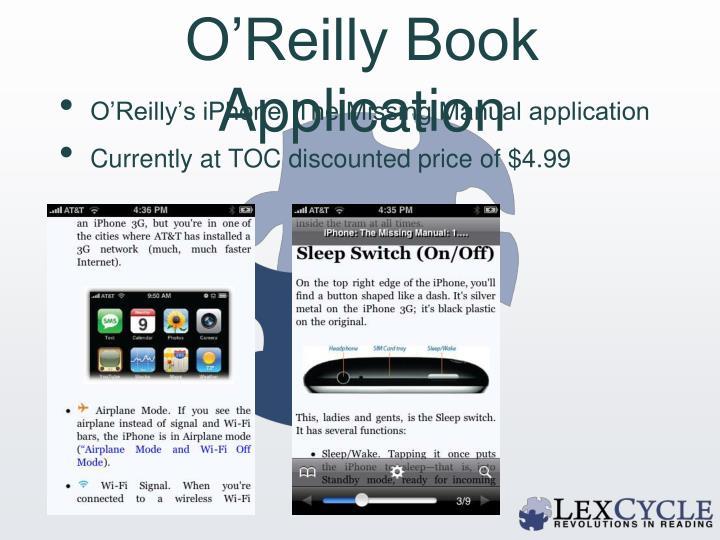 O'Reilly Book Application