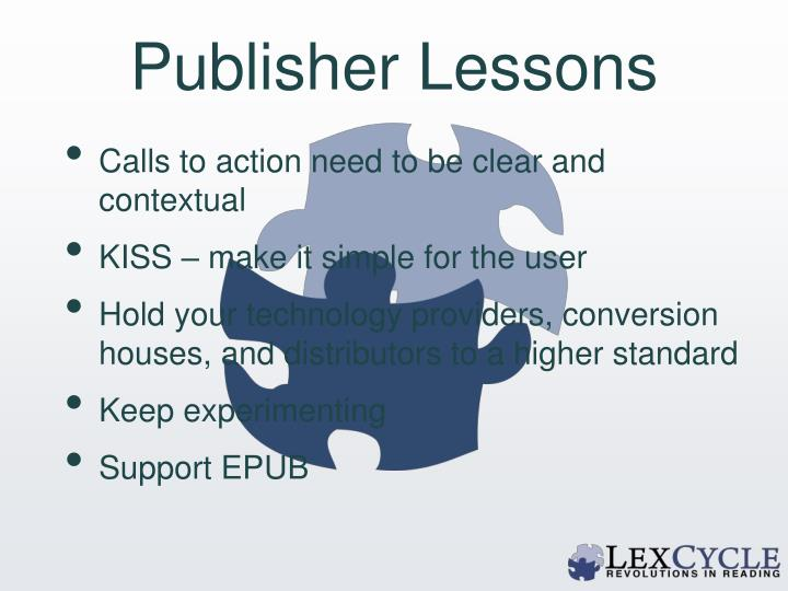 Publisher Lessons