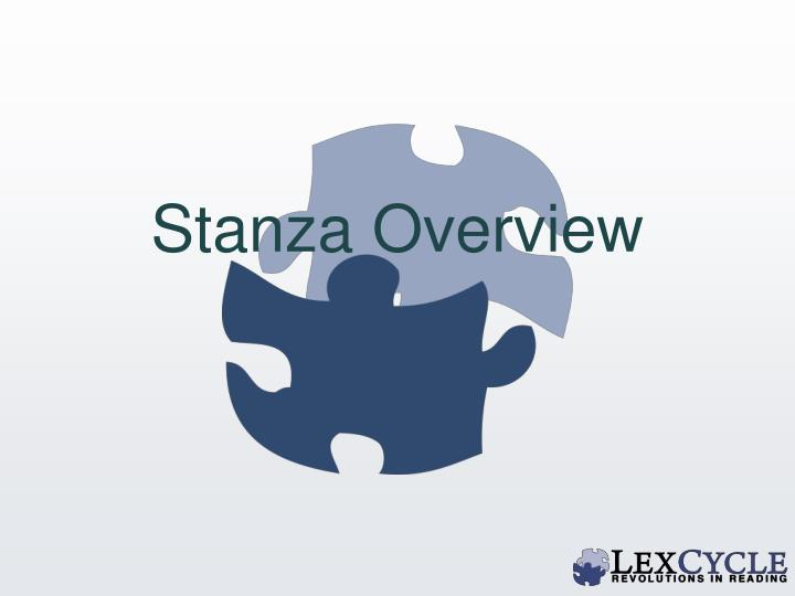 Stanza Overview