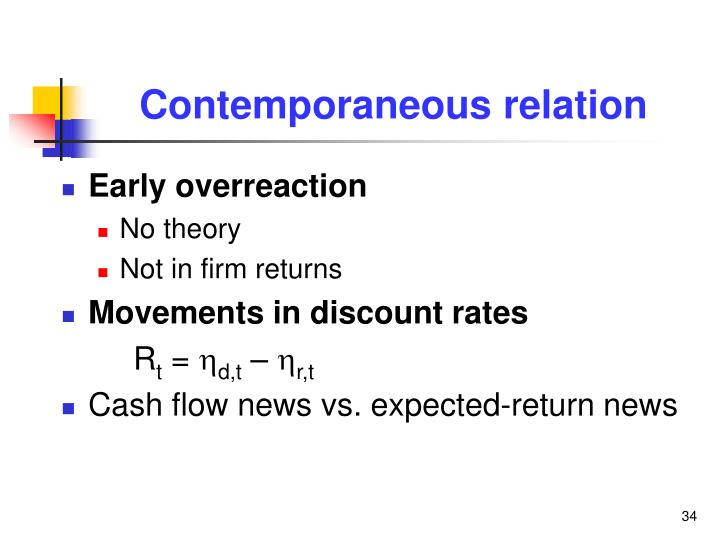 Contemporaneous relation