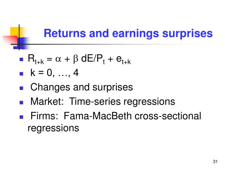 Returns and earnings surprises