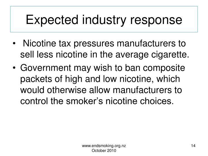 Expected industry response