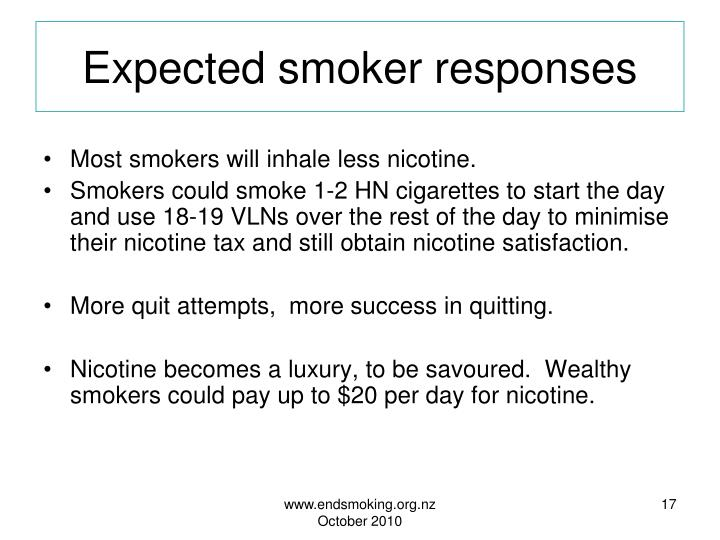 Expected smoker responses