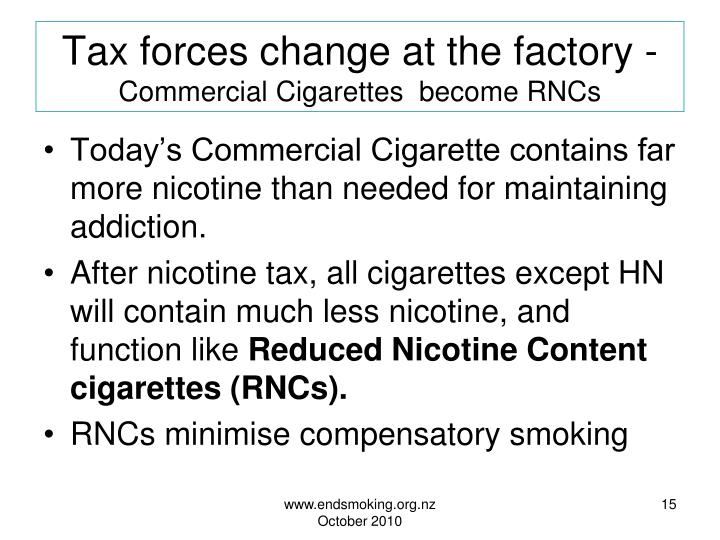 Tax forces change at the factory -