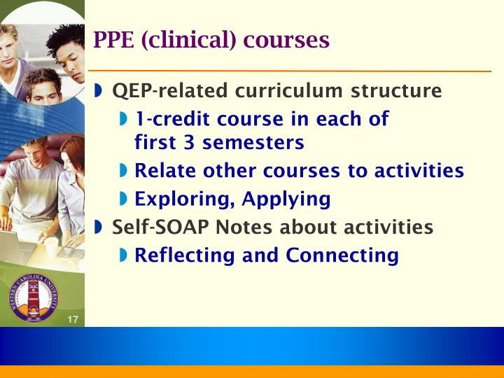 PPE (clinical) courses