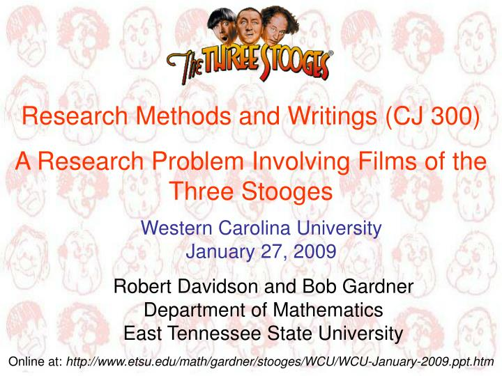 Research Methods and Writings (CJ 300)