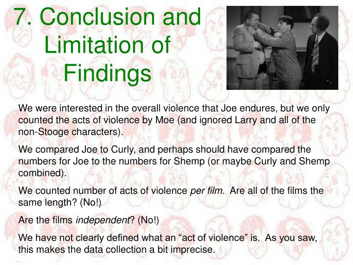 7. Conclusion and Limitation of Findings