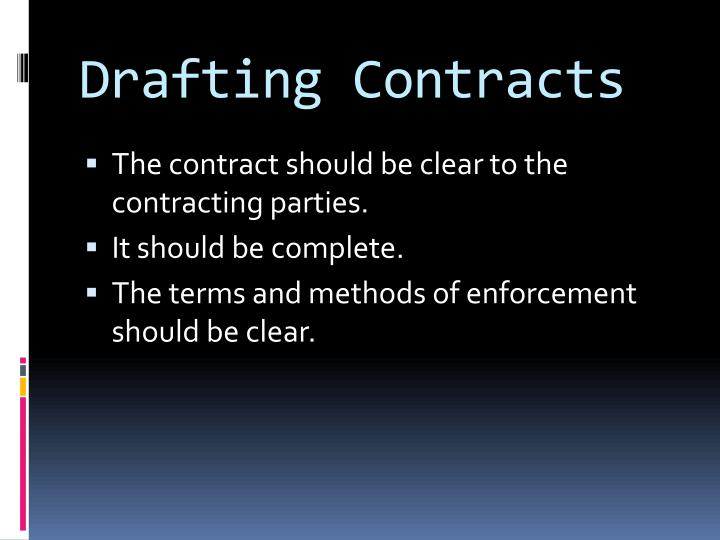 Drafting contracts1