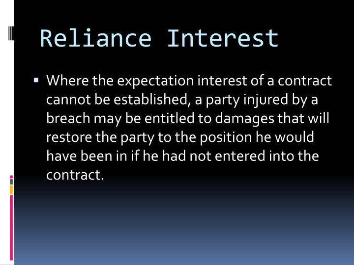 Reliance Interest