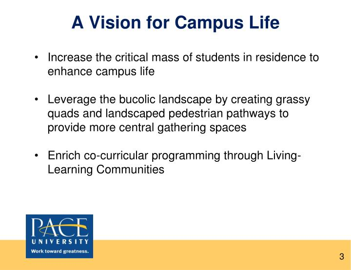 A Vision for Campus Life