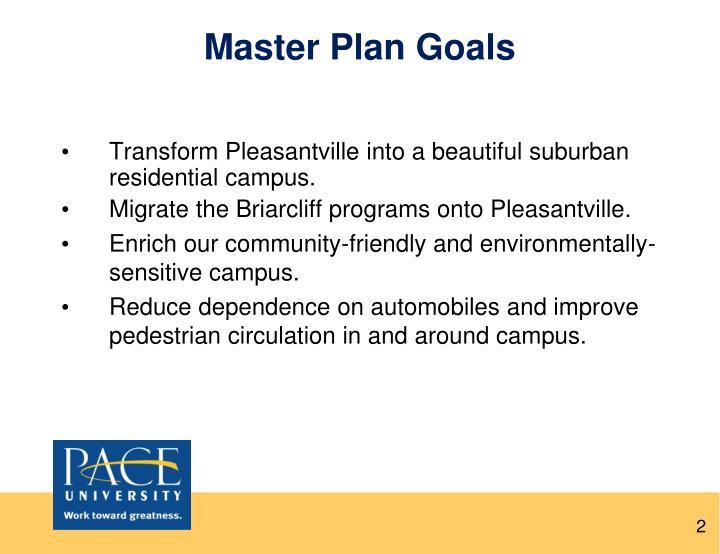 Master Plan Goals