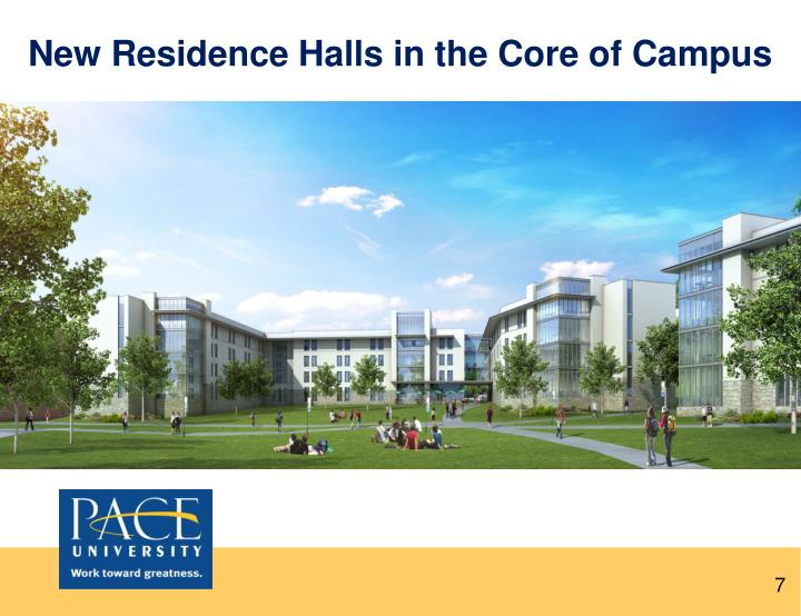 New Residence Halls in the Core of Campus