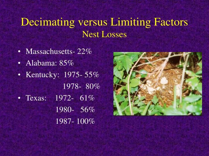 Decimating versus Limiting Factors