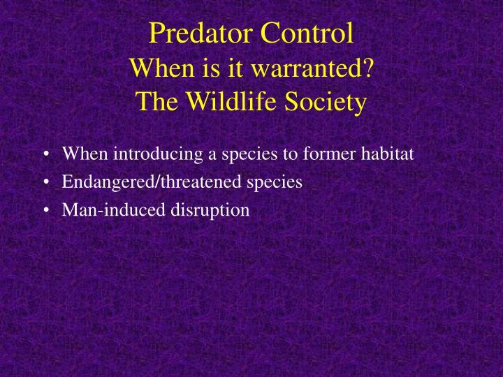 Predator Control