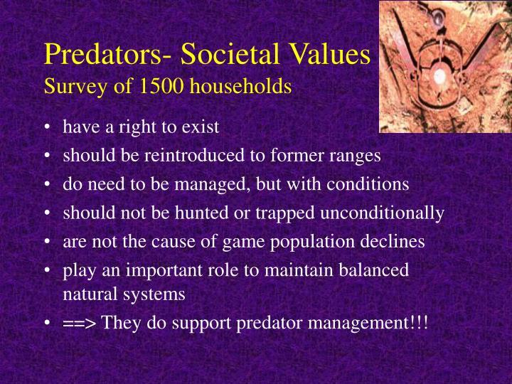 Predators- Societal Values