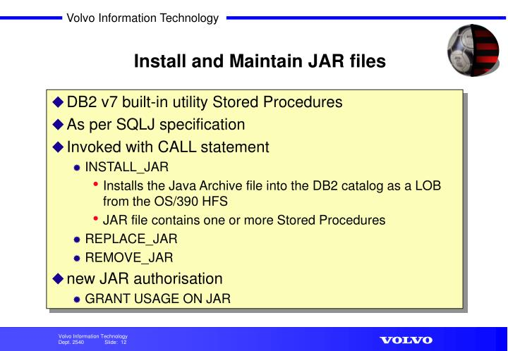 Install and Maintain JAR files