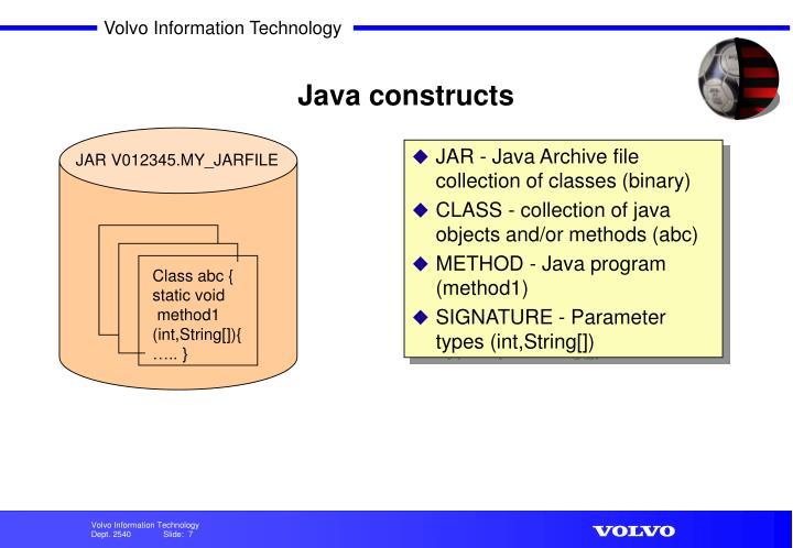 Java constructs
