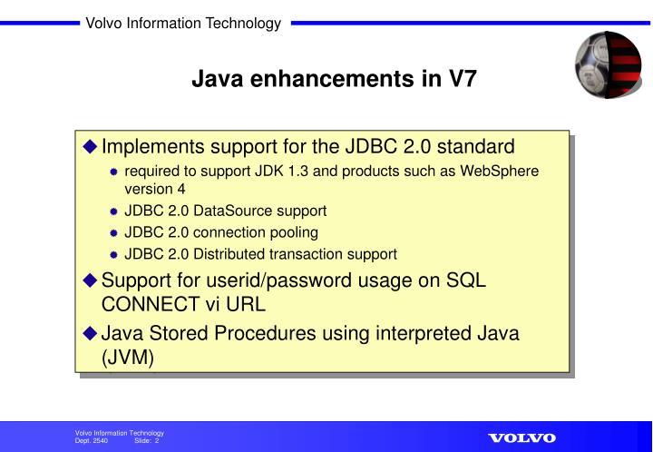 Java enhancements in V7