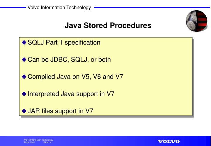 Java Stored Procedures