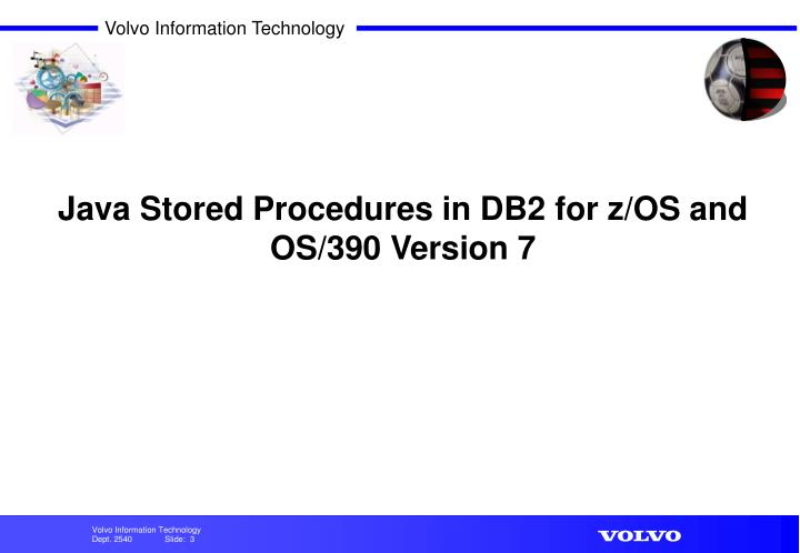 Java Stored Procedures in DB2 for z/OS and OS/390 Version 7
