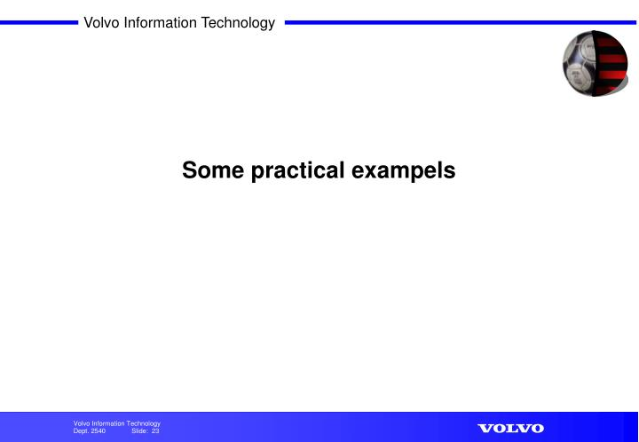 Some practical exampels