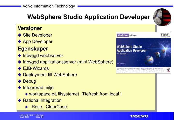 WebSphere Studio Application Developer