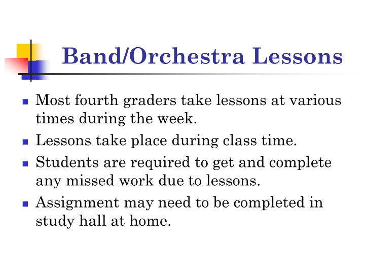 Band/Orchestra Lessons
