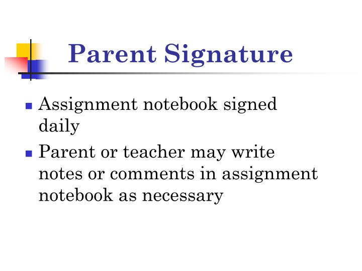 Parent Signature