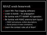k8az sends homework
