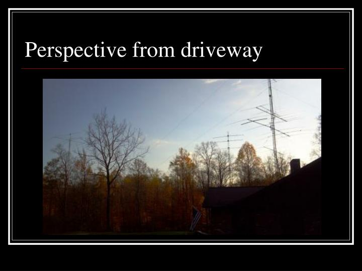 Perspective from driveway