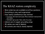 the k8az station complexity