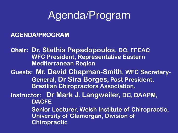 Agenda/Program
