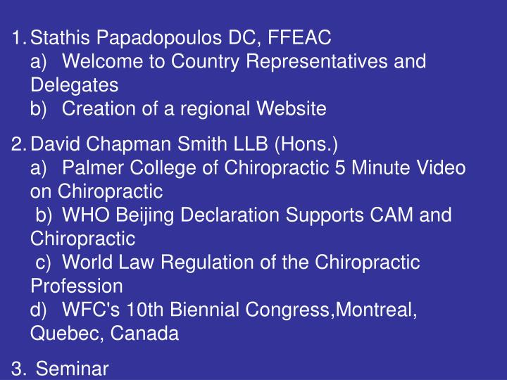 Stathis Papadopoulos DC, FFEAC