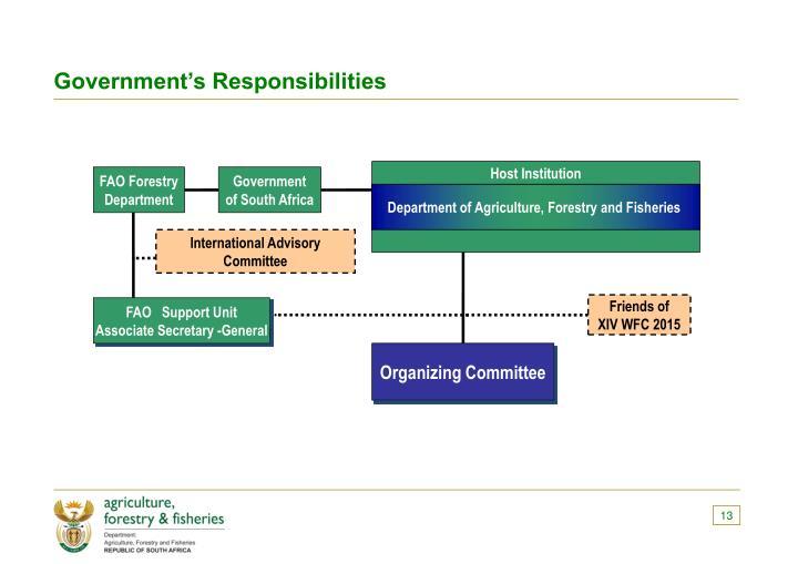 Government's Responsibilities