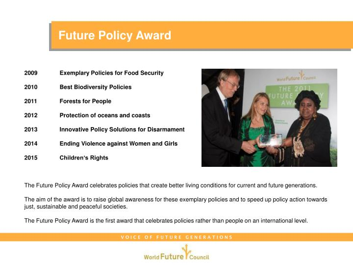 Future Policy Award