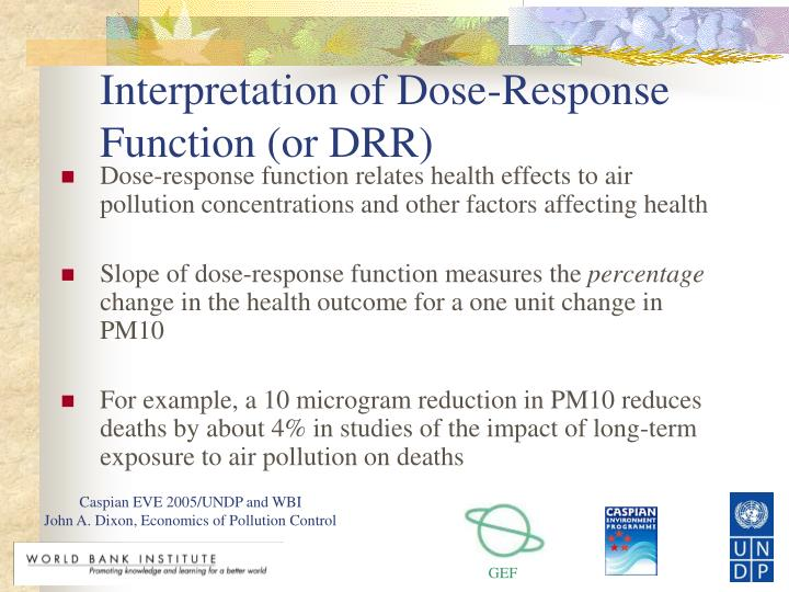 Interpretation of Dose-Response Function (or DRR)