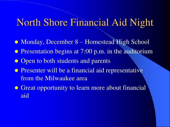 North Shore Financial Aid Night