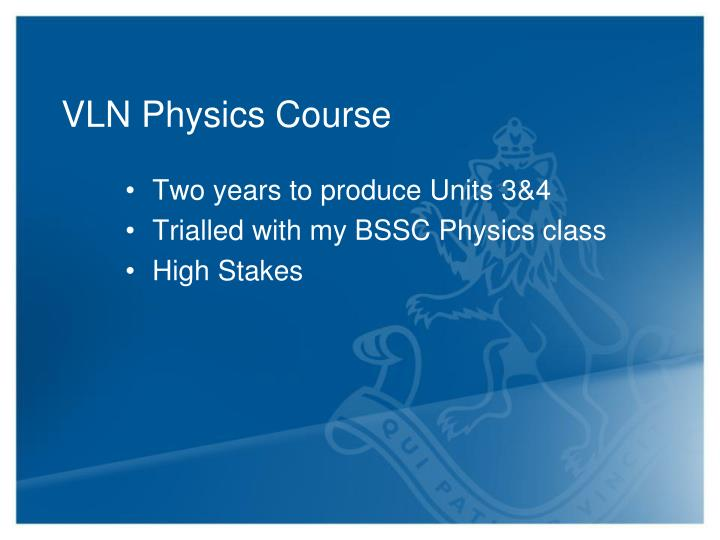 VLN Physics Course
