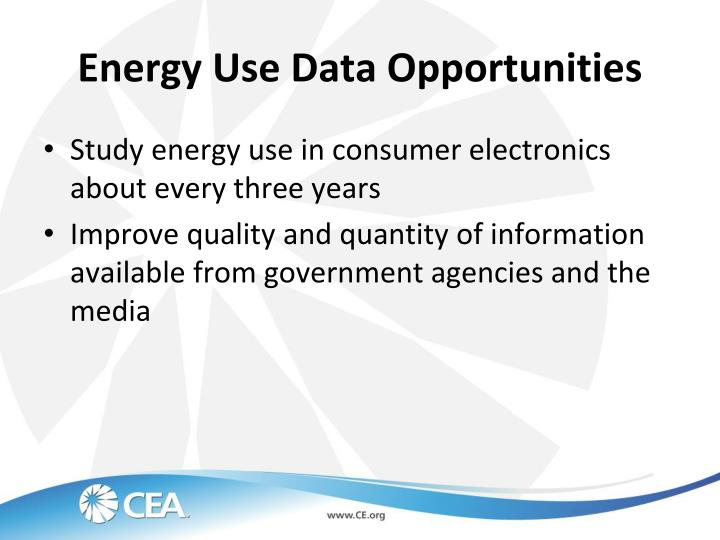 Energy Use Data Opportunities