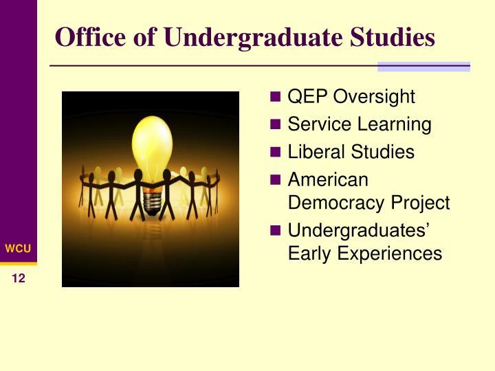 Office of Undergraduate Studies