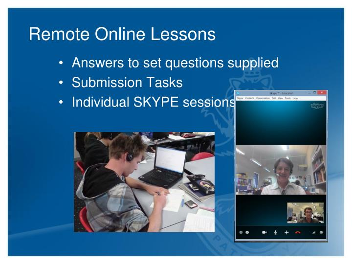 Remote Online Lessons