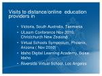 visits to distance online education providers in