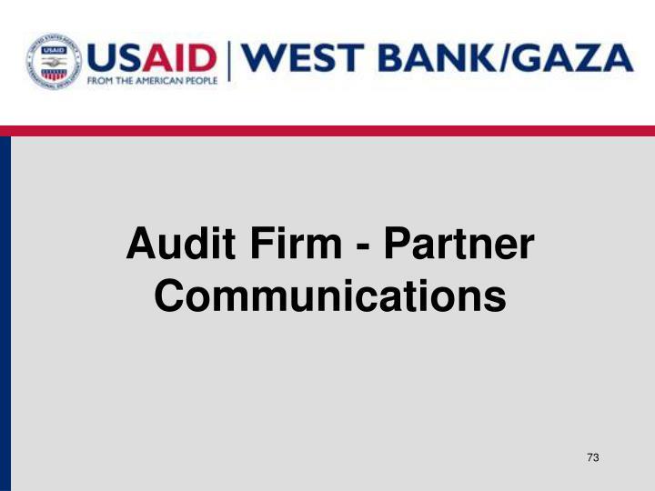 Audit Firm - Partner Communications